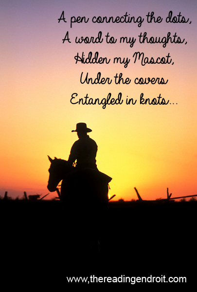 man riding a horse at sunset